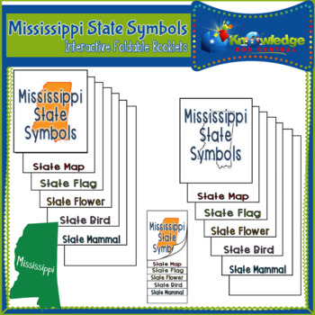 Mississippi State Symbols Interactive Foldable Booklets