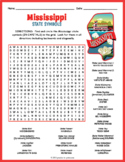 MISSISSIPPI State Symbols Word Search Puzzle Worksheet Activity