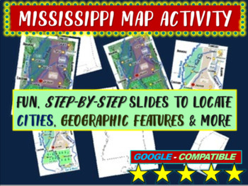Mississippi state Map Activity- fun, engaging, follow-alon