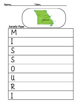 Missouri Acrostic Poem