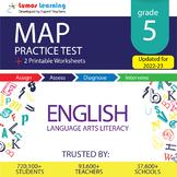 Online MAP Practice test, Printable Worksheets, Grade 5 EL