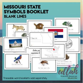 Missouri State Symbols Booklet Blank Lines By Melissa Schaper Tpt