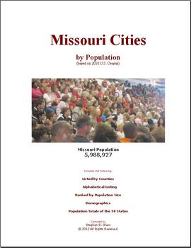 Missouri Cities by Population