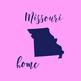 Missouri Clipart, USA State Vector Clipart, Missouri Home, Gold US Clipart