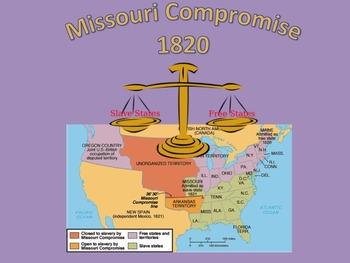 Missouri Compromise 1820, primary source document, PPT slides