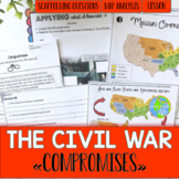 Missouri Compromise, Compromise of 1850, Kansas Nebraska Act, Fugitive Slave Law