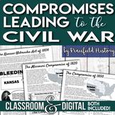Missouri Compromise Compromise of 1850 Kansas-Nebraska Act