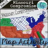 Missouri Compromise Map Activity (Print and Digital)