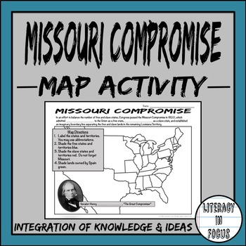 Missouri Compromise Map Lesson (Engaging Geographic Analysis!)