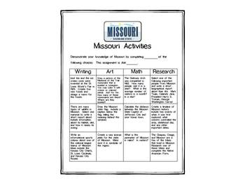 Missouri Differentiated State Activities