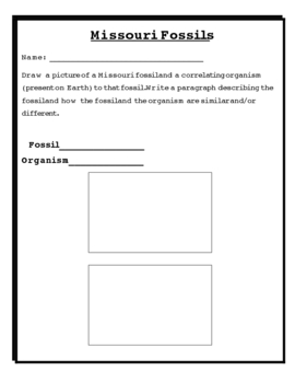 Missouri Fossil Note Taking and Activity