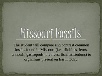 Missouri Fossils (Hydrosphere) Power Point
