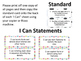 Missouri Grade 1 ELA I Can Statements