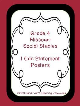 Missouri Grade 4 Social Studies Standards in I Can Statements