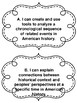 Missouri Grade 6 - 8 American History Standards in I Can Statements