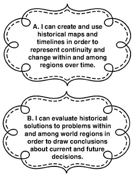 Missouri Grade 6 - 8 Geography Standards in I Can Statements