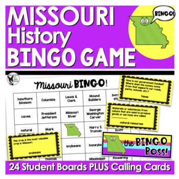 Missouri History Bingo