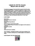 Missouri History: Civil War Lapbook Gradesheet Checklist and tips