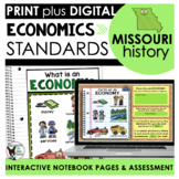 Missouri History Economics Standards Interactive Notebook Pages