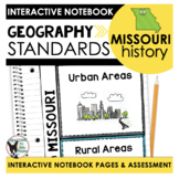 Missouri History   Geography Standards Interactive Noteboo