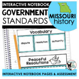 Missouri History   Government Standards Interactive Notebo