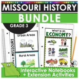 Missouri History BUNDLE- Contains 14 Resources! INBs, Crafts, BB Set, Timeline