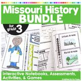 Missouri History BUNDLE   Contains 14 Resources   INBs, Crafts, BB Set, Timeline