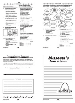 Missouri History–Interactive Notebook Missouri State Study Unit + AUDIO!
