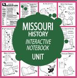 Missouri History State Study Interactive Notebook Unit + AUDIO