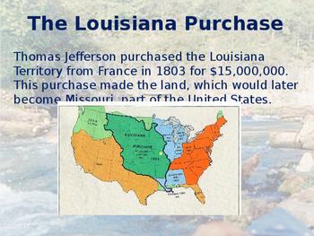 Missouri History PowerPoint - Part II