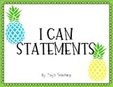 Missouri I Can Statements: 5th Grade Math + Blank Template