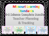 Missouri Learning Standards, 6-8 Science Bundle Teacher pl