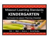Kindergarten Missouri Learning Standards Checklist- BUNDLE- all subjects
