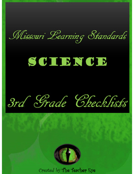 Missouri Learning Standards- Science- Checklists 3rd Grade