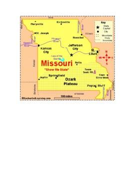 Missouri Map Scavenger Hunt