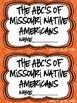 Missouri Native American ABC Booklet