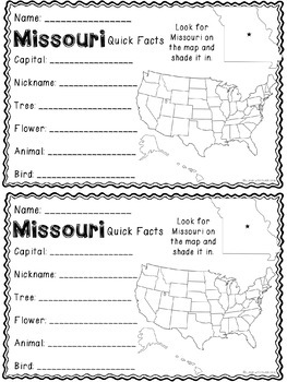 Math about Missouri State Symbols through Multiplication Practice