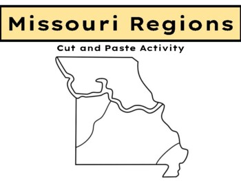 Missouri Regions cut and paste activity