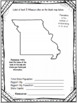 Missouri State Research Report Project Template + bonus timeline Craftivity MO