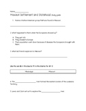 Missouri Settlement and Statehood test and/or study guide
