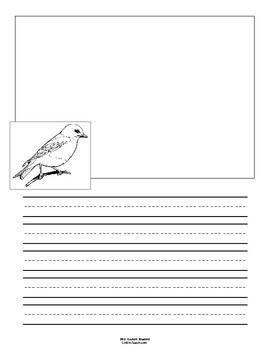 Missouri State Bird Notebooking Set (Eastern Bluebird)