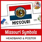 Missouri State Flag & Symbols Headband + Poster & Writing Prompt