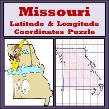 Missouri State Latitude and Longitude Coordinates Puzzle -