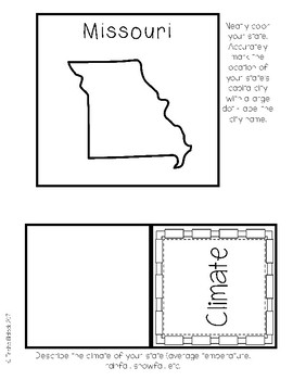 Missouri State Research Lapbook Interactive Project