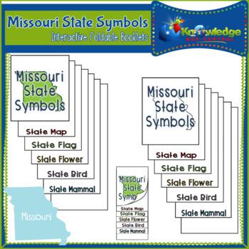 Missouri State Symbols Interactive Foldable Booklets