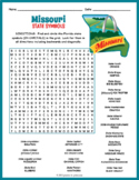 MISSOURI State Symbols Word Search Puzzle Worksheet Activity