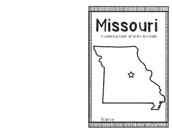 Missouri State Symbols coloring booklet