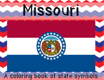 Missouri State Symbols coloring booklet