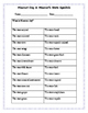 Missouri State Symbols worksheet