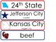 Missouri State Word Wall Bulletin Board Set. Geography Cur